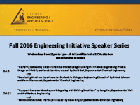The fall 2016 Engineering Initiative Speaker Series begins Wednesday, Oct. 5.