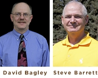 David Bagley (left) and Steve Barrett (right) were honored as Top Profs.