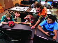 Local students learn about coding and robotics as part of the Laramie Robotics Club.