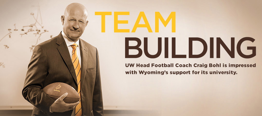 Cowboy Head Football Coach Craig Bohl is Impressed with Wyoming's support for its university.