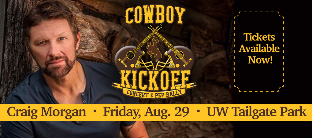 Attend the Cowboy Kickoff featuring a pep rally and concert by Craig Morgan Aug. 29