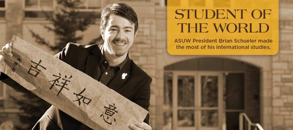 ASUW President Brian Schueler made the most of his international studies