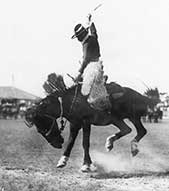 Rider on a Bucking Horse