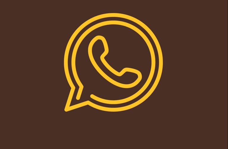 An icon of a telephone handset within a chat bubble