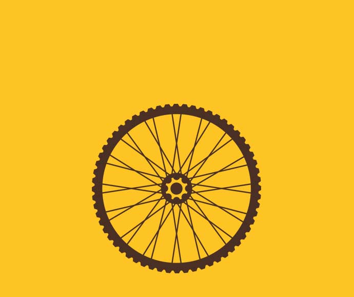 Graphic of a bike wheel