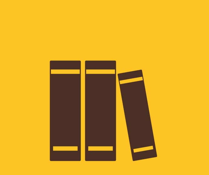 Books on a shelf infographic