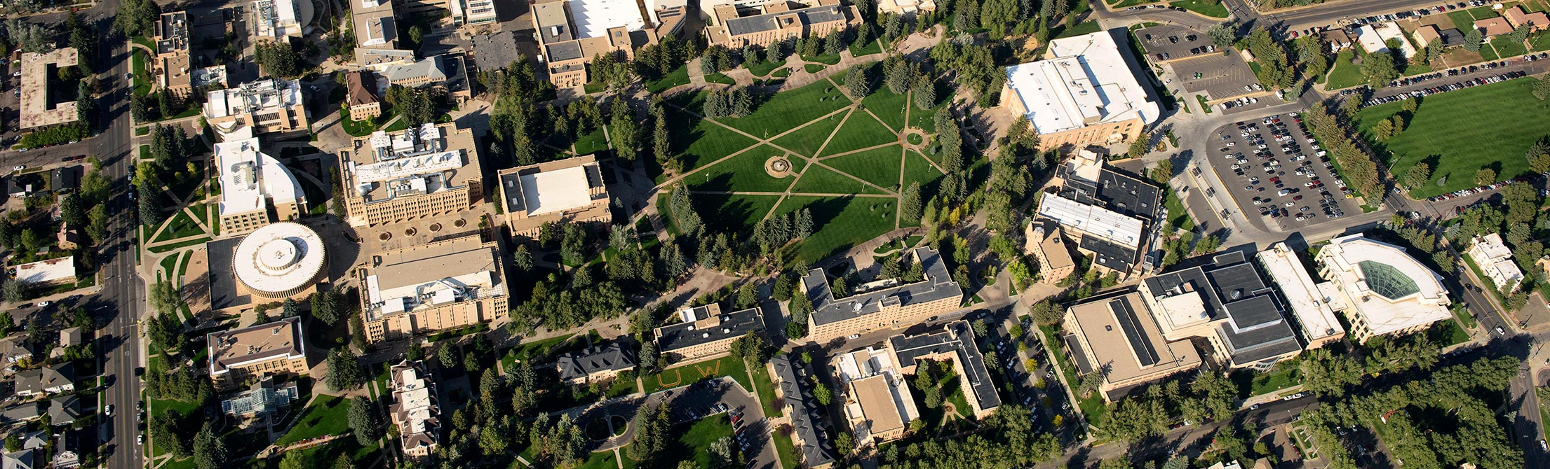 Aerial image of UW's campus