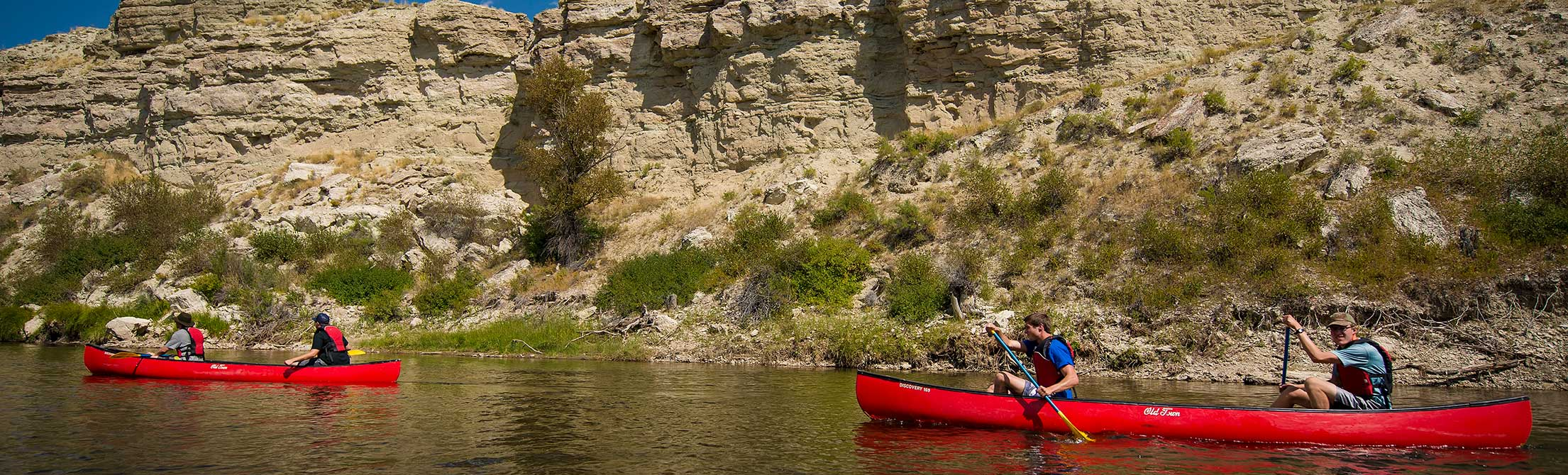 Students from the University of Wyoming enjoy a trip on the Platte River, one excursion possible in the Outdoor Leadership FIG.