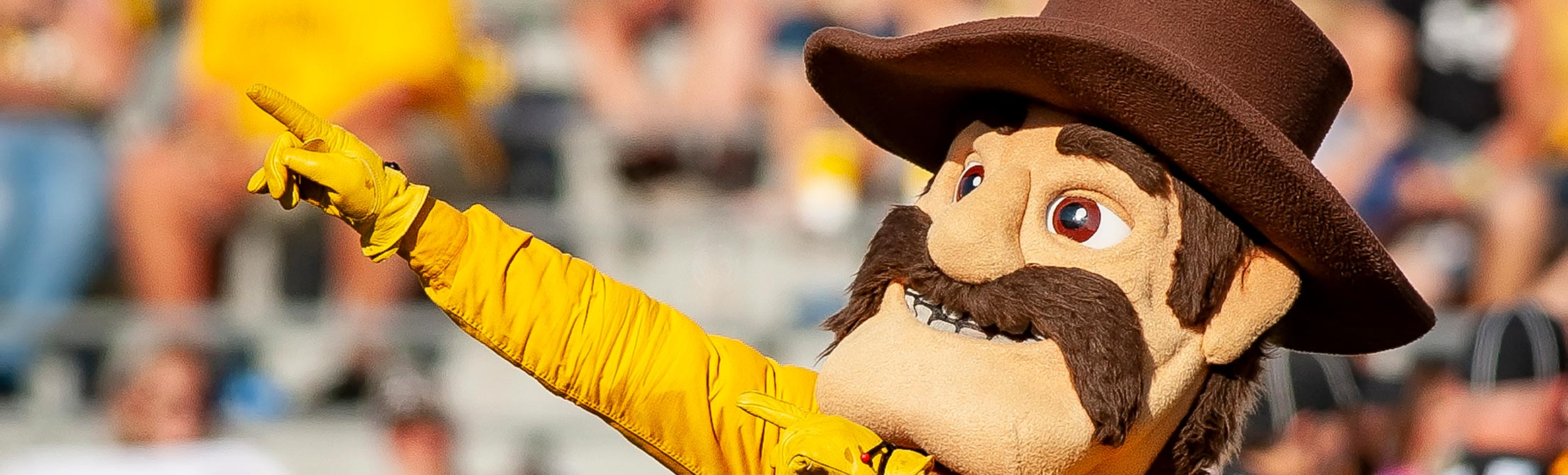 Pistol Pete at a football game