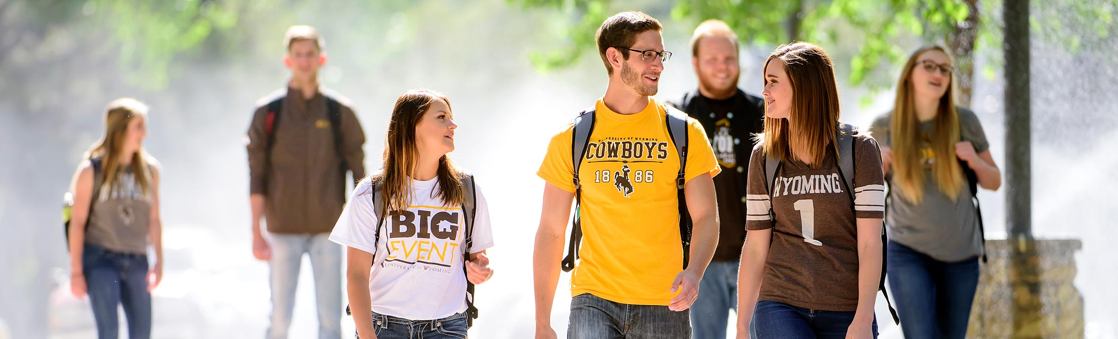 Students walk to classes.