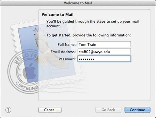 Welcome to Mail window