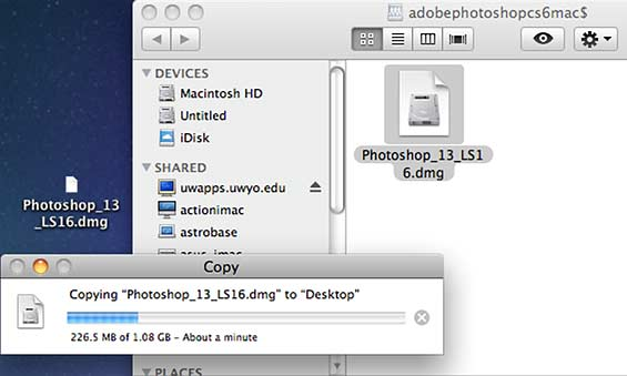 ADOBEPHOTOSHOPCS6MAC$ window