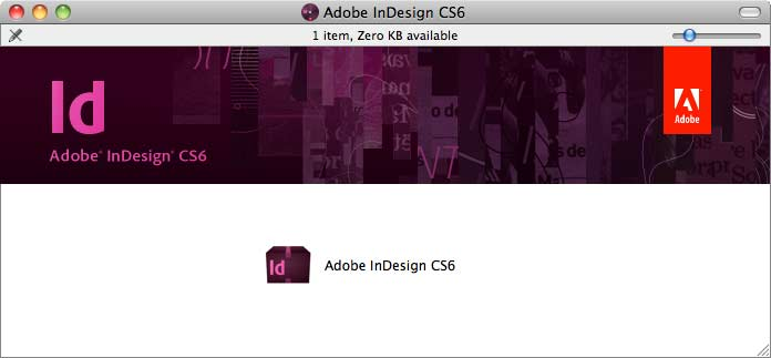 Adobe InDesign CS6 window