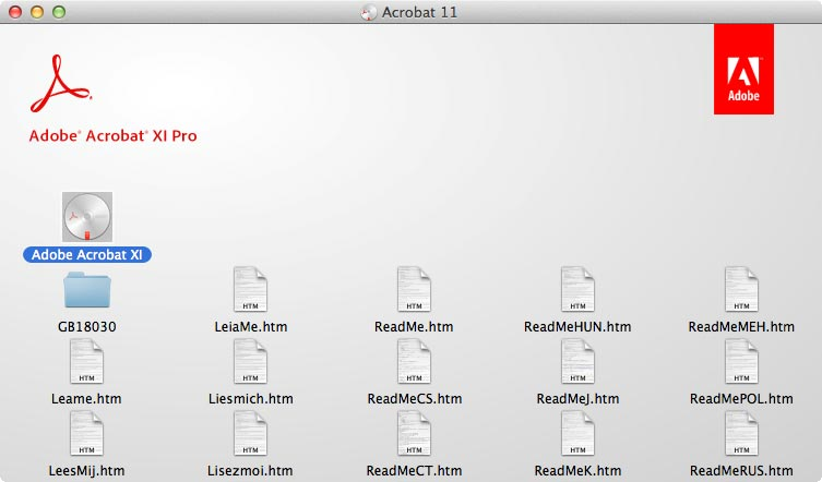 Acrobat 11 window