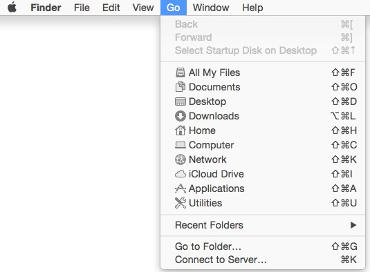 Finder Go window