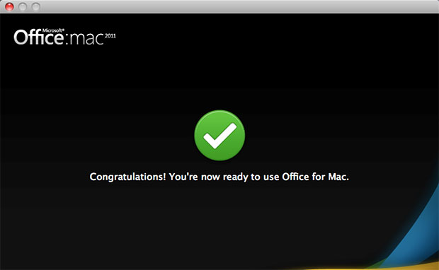 Congratulations! You're now ready to use