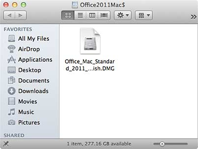 Office_Mac_Standard_2011_SP2_English.dmg file icon