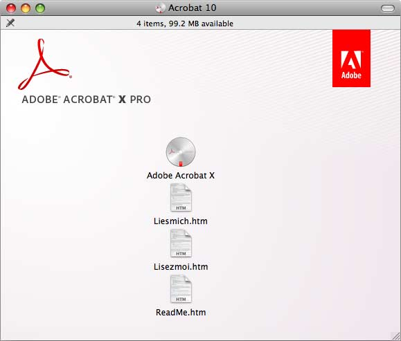 Adobe Acrobat X Pro  window