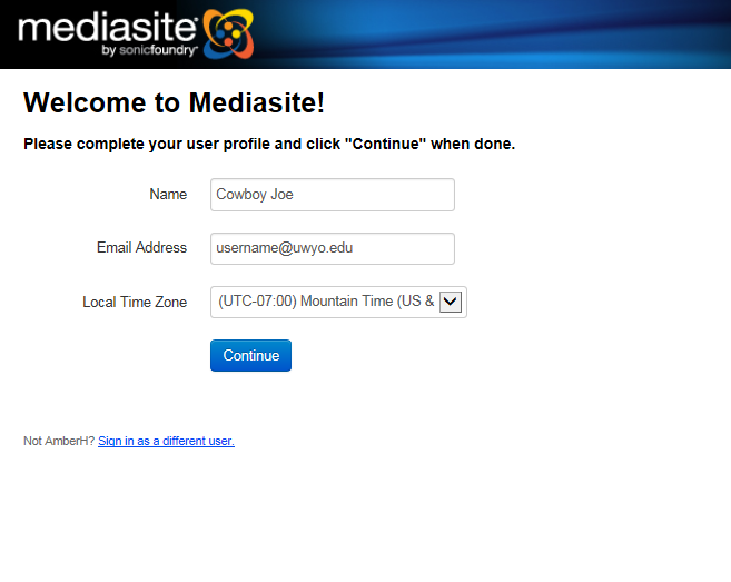Welcome to Mediasite