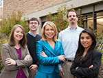 Image of the five PhD students in the marketing program