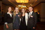 Students posing for picture at recognition dinner