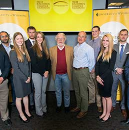 Fisher Innovation Challenge winners pose for a portrait.