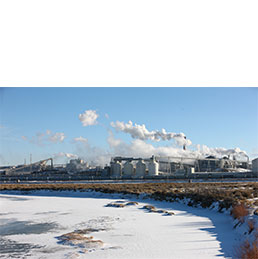 A chemical processing facility in southwest Wyoming
