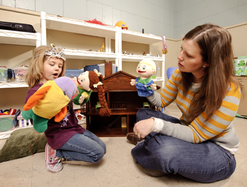 play therapy Play therapy may also be of value beyond the clinical setting, conducted through parents as well as in preschools.