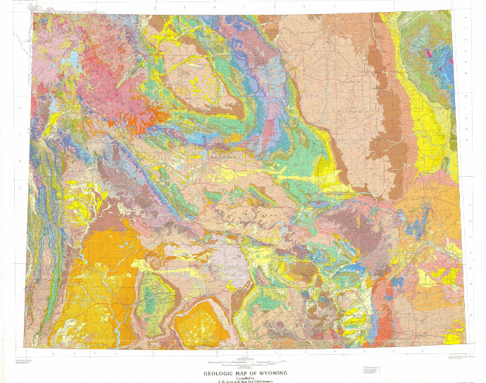Geologic Map of Wyoming | Geology and Geophysics | College ...