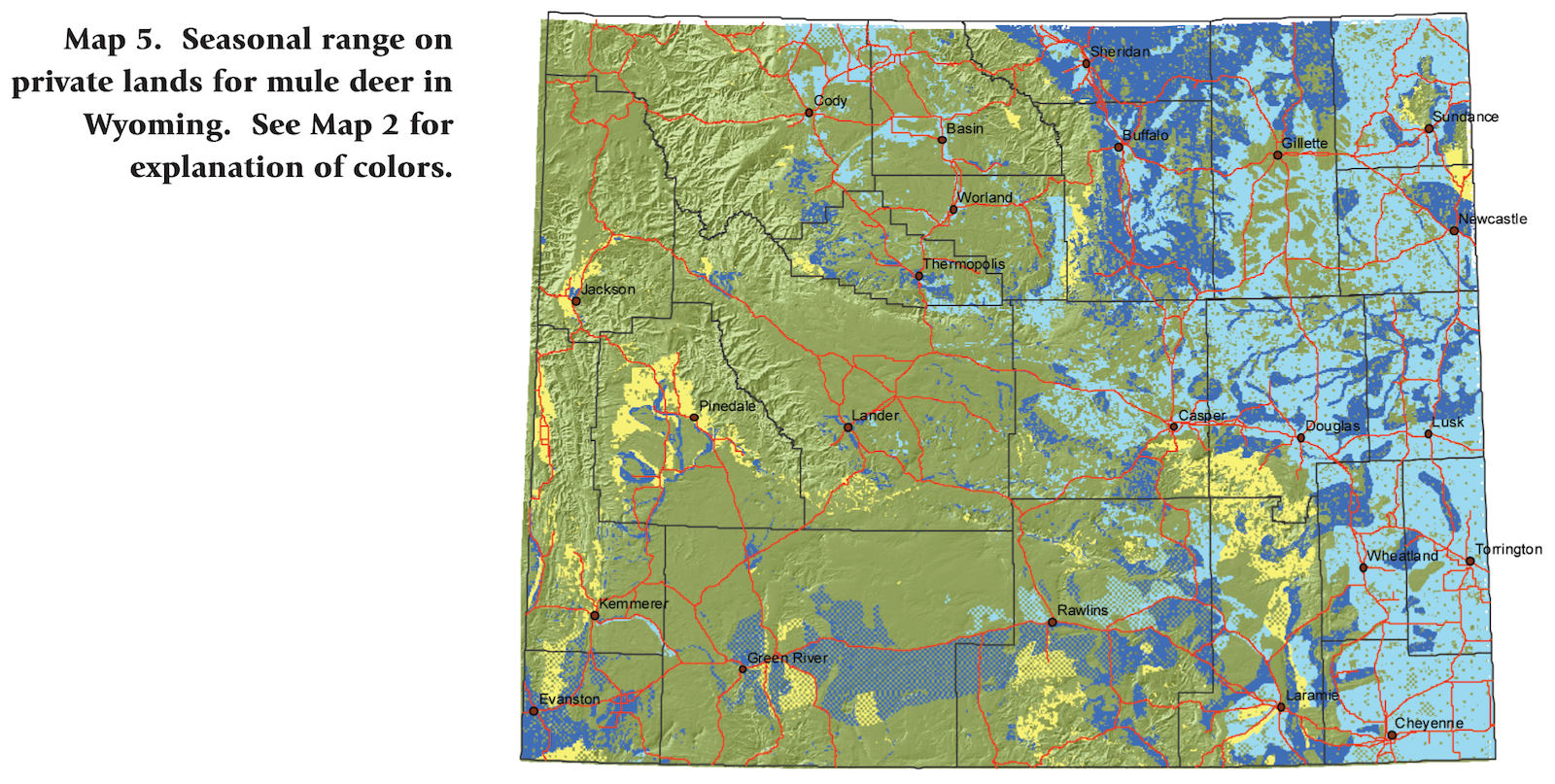 Mule Deer Density Map Pictures To Pin On Pinterest PinsDaddy - Map of colorado population density