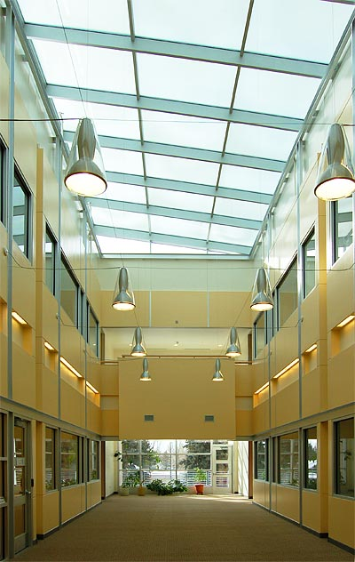 ITC second floor atrium, looking south