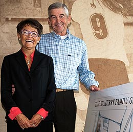With their $6 million gift toward the University of Wyoming's Marian H. Rochelle Gateway Center, Susie and Mick McMurry join the Rochelle family as the two largest private supporters in the institution's history. Photo courtesy UW.
