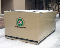 Four Large Recycling Collection Bins Donated to UW