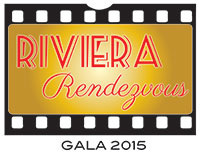 logo for gala made to look a stylized section of film strip with art deco lettering on it