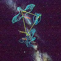 picture of sky with constellations outlined