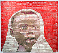 mosaic of a child's face