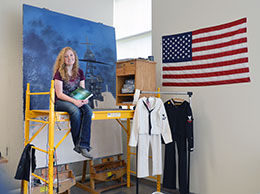 UW Student Commissioned to Paint Work for 75th Pearl Harbor Day Anniversary