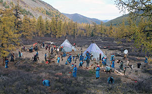 UW Scientist Explores Archaeological Record by Studying Mongolian Reindeer Herder Camps