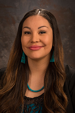 Reinette Tendore, a female native american program adviser