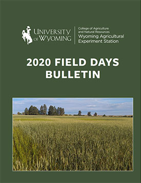 Field Days Bulletin Cover