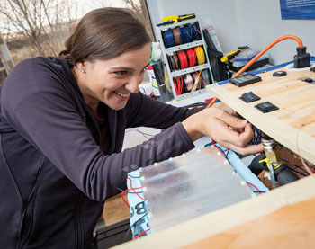 woman working with wiring