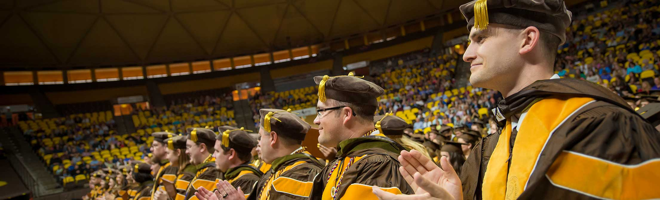 Doctoral graduates attending University of Wyoming graduation