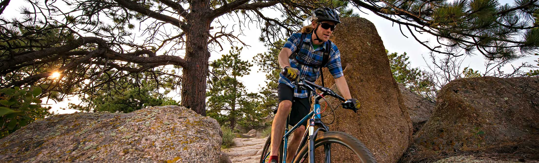 Mountain biker at Curt Gowdy
