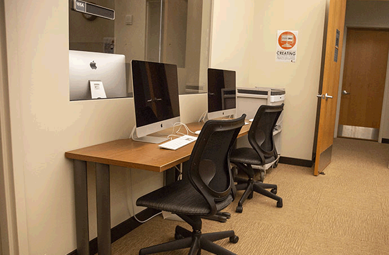 picture of new computers in a room