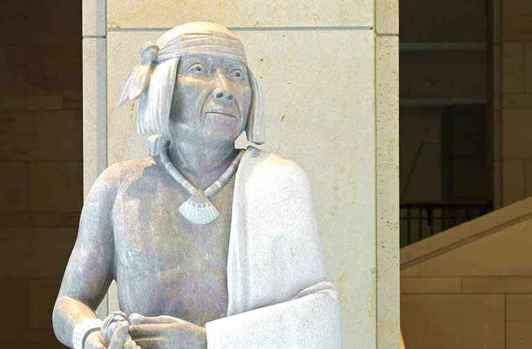 photograph of Statue of Popé, Tewa spiritual leader
