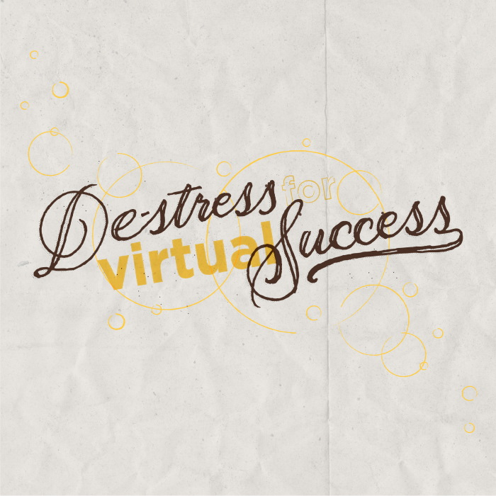 Destress for Virtual Success logo decorative image