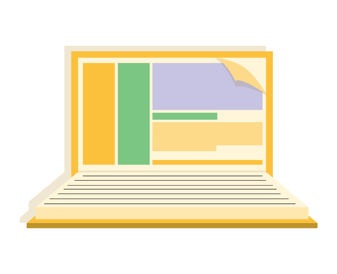computer and book icon