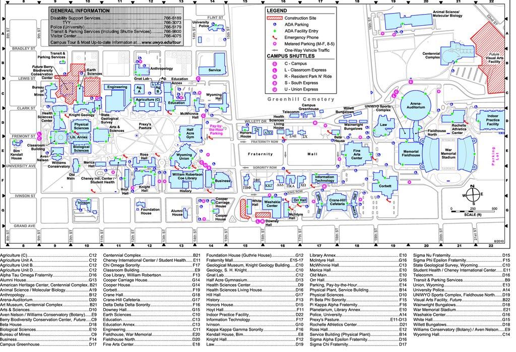 Uwyo Campus Map   Path Map