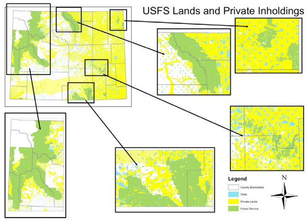 Private Lands Conservation Toolkit And Training US Forest - Us land acquisitions map