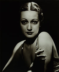 black and white vintage photo of woman